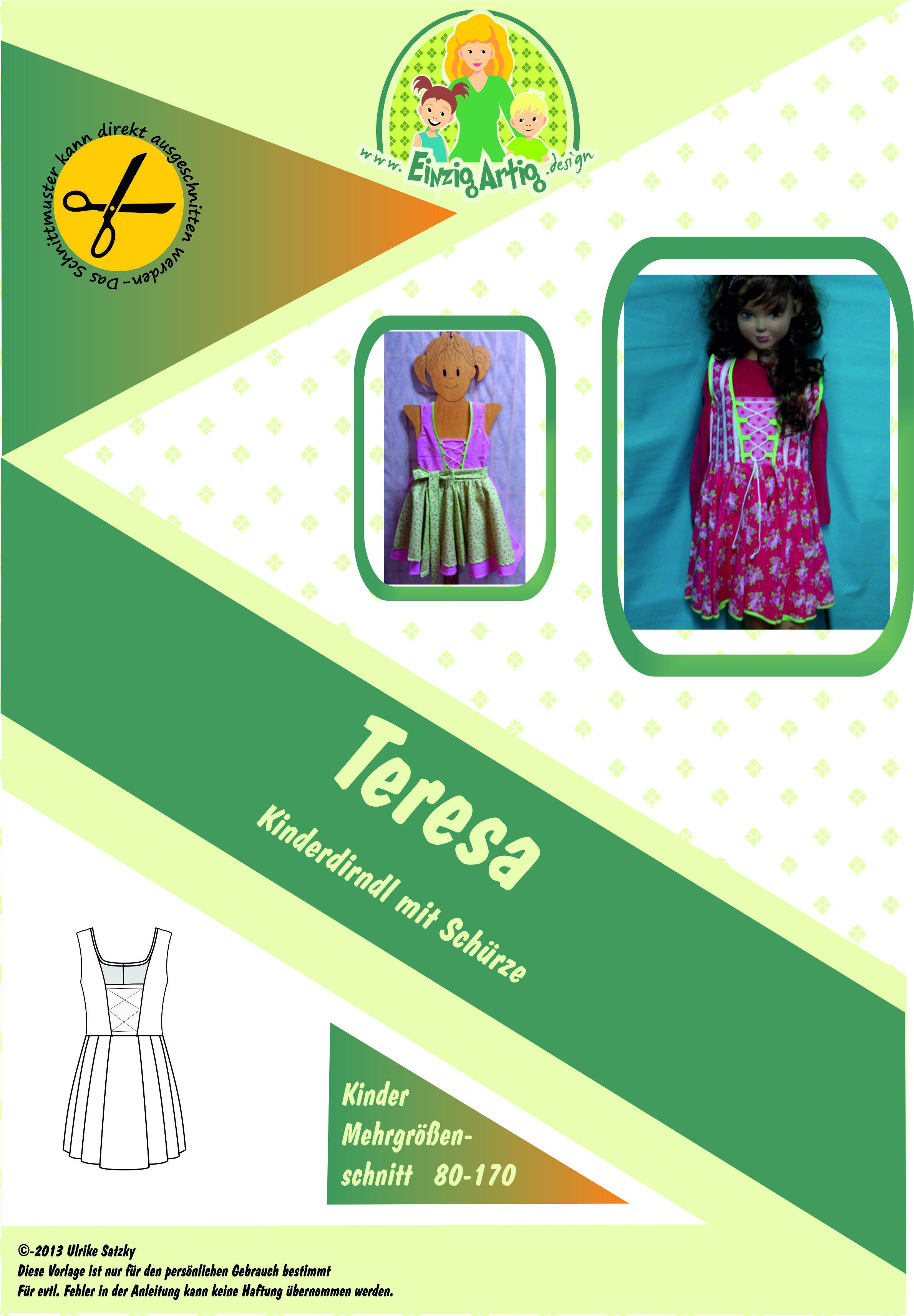 Teresa - Kinderdirndl mit Schürze - Stoffe, Schnittmuster & Nähzubehör