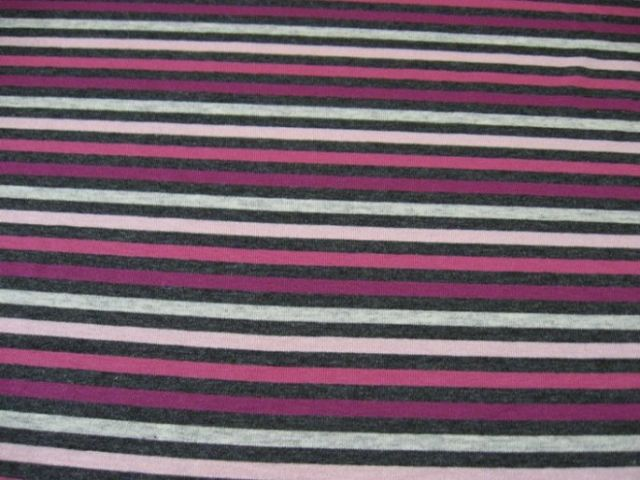 Viskose Jersey Stipes berry
